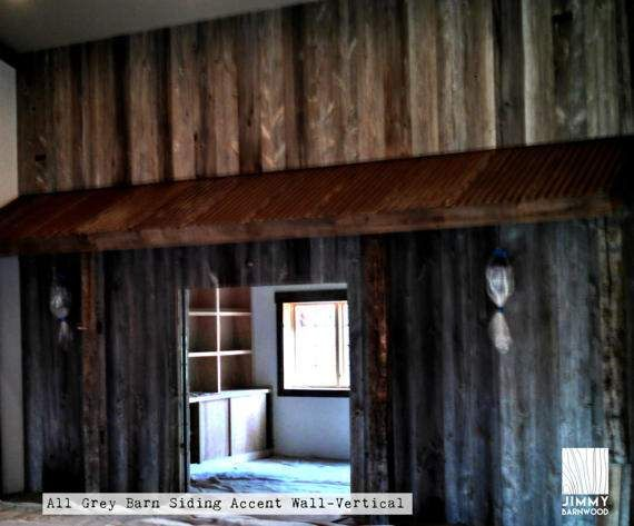"""Price for 10 sq ft, FREE Shipping US. We sell """"authentic"""" barnwood (the REAL stuff!!) ...style and colors only created with time and Mother Nature! Our barn-siding accent wall material is high quality processed barn siding and made from re-purposed barnwood, therefore it is environmentally friendly. This material looks amazing and will last a lifetime. All grey barn siding is by far our most popular color. The grey is from the decades of exposure to the sun and the barn siding has very…"""