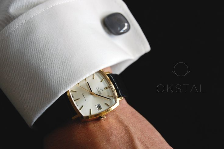 Vintage Omega dresswatch and OKSTAL shirt equipped with self holding and assymmetrized french style watchcuff