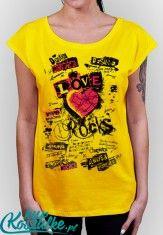 Koszulka z nadrukiem damska LOVE ROCKS