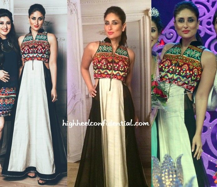 Kareena crowned the winner of Miss Ethnic 2015 recently wearing an Archana Kochhar maxi. Hair in a ponytail, she finished out her look with smoky eyes and a red lip. Love/Like? Kareena Kapoor at Miss Ethnic 2015 More guilt readingIn Black & WhiteIn AtsuIn TwosIn Rahul Mishra