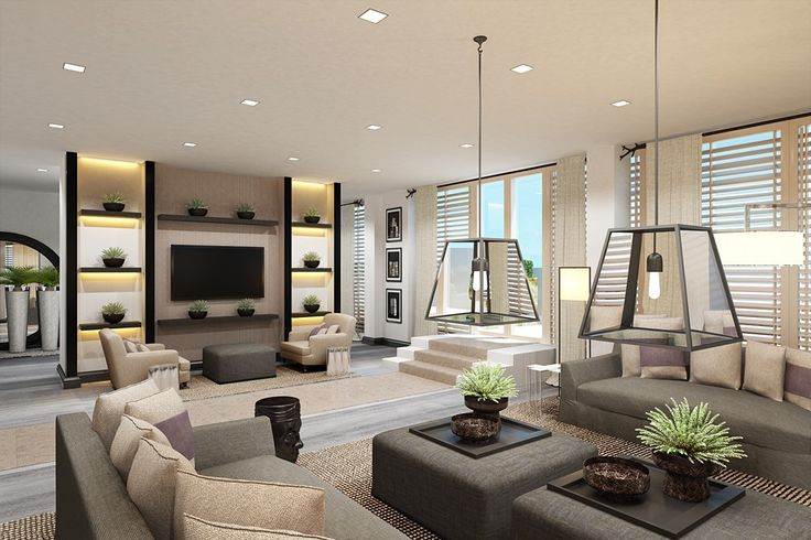 «Barkli Virgin House» — интерьеры. Примеры жилых зон: гостиные, кухни спальни.