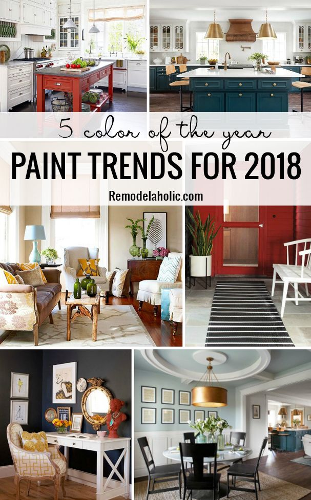 Now trending: 2018 color of the year paint colors. Explore Pantone Ultra Violet, Benjamin Moore Caliente, Sherwin-Williams Oceanside, Glidden Deep Onyx, Dutch Boy Sandstone Tint, and Behr In the Moment for home decor and paint inspiration.