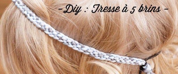 tresse a 5 brins explication #Tuto #DIY #Headband