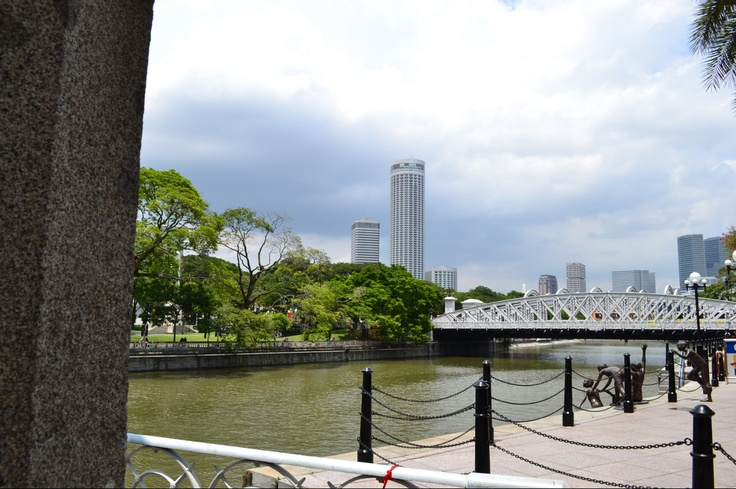 Singapore River ---- a river with great historical importance, nearly all land surrounding Central Area is commercial.