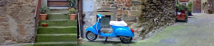 Vespa Scooter in Tuscany