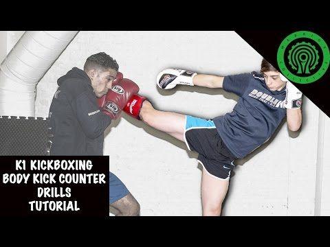 K1 Kickboxing Body Kick Counter Drills Tutorial - YouTube