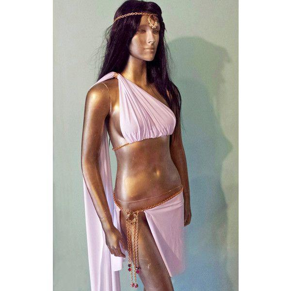 Sexy GREEK GODDESS COSTUME Toga Roman Grecian Venus Aphrodite Spartan... ($85) ❤ liked on Polyvore featuring costumes, sexy cosplay costumes, sexy womens halloween costumes, sexy ladies halloween costumes, women's halloween costumes and womens cosplay costumes