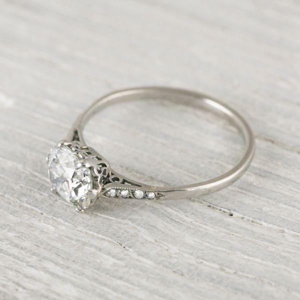 1 Carat Cushion Cut Vintage Engagement Ring | Erstwhile