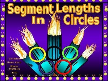 I am thrilled to be able to share this power point over Segment Lengths in Circles! * Here, students learn how to find the lengths of the segments of two chords that intersect in the interior of a circle. * Students learn how to determine the length of unknown segments when two secants share the same endpoint on the exterior