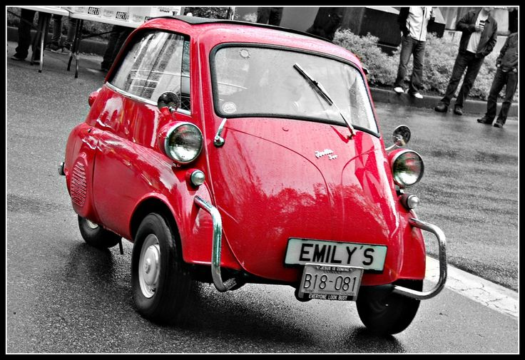 ~ The Isetta is an Italian-designed microcar built in a number of different countries, including Spain, Belgium, France, Brazil, Germany, and the United Kingdom. Produced in the post-World War II years, a time when cheap short-distance transportation was most needed, it became one of the most successful and influential city cars ever created. Because of its egg shape and bubble-like windows, it became known as a bubble car, a name later given to other similar vehicles, including the AMC…