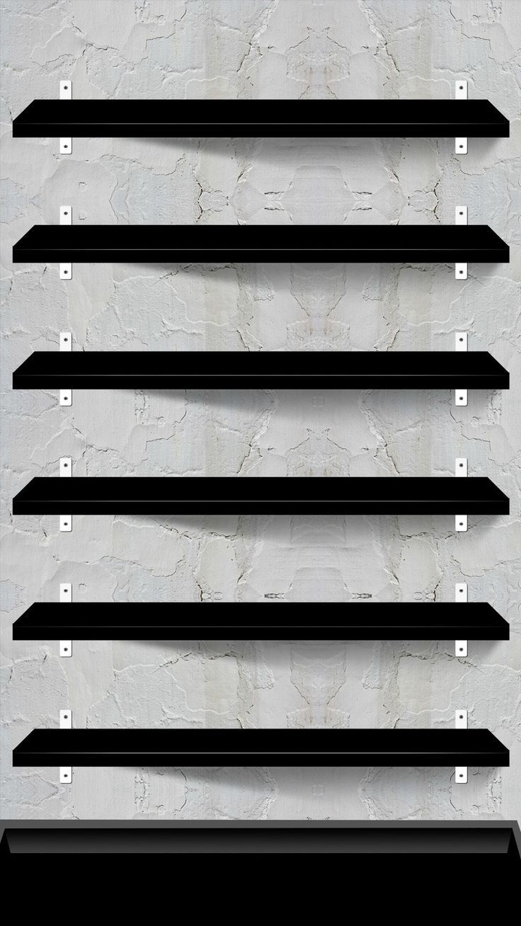 10 Creative Shelves Wallpapers for the iPhone 6 Plus!