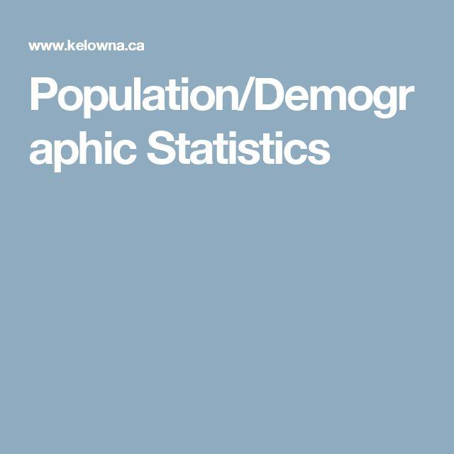 Population/Demographic Statistics