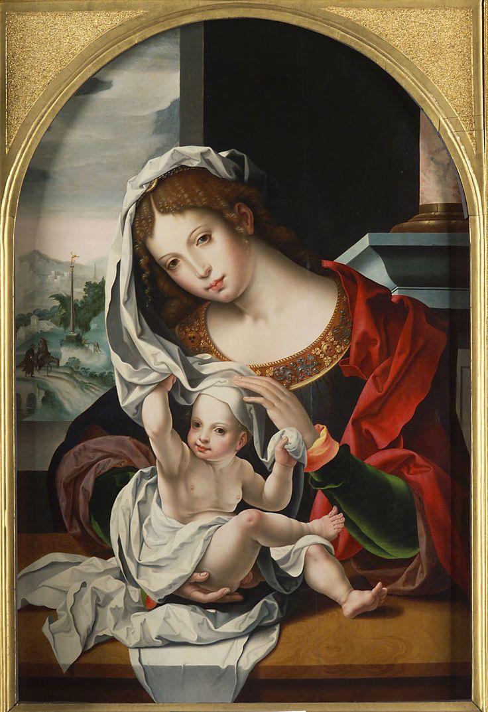 Virgin and Child // Mitte 16. Jahrhundert // (After) Jan Gossaert, gen. Mabuse // Kunsthistorisches Museum