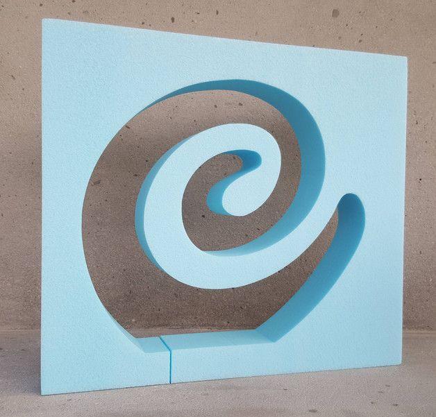 Beton Giessform - SKULPTUR - 50 cm hoch x 56 cm breit x 6,4 cm tief auch in Eurer Lieblingsgröße möglich! Auf den Bildern siehst Du einmal die zu erwerbende Form (das NEGATIV), einmal...