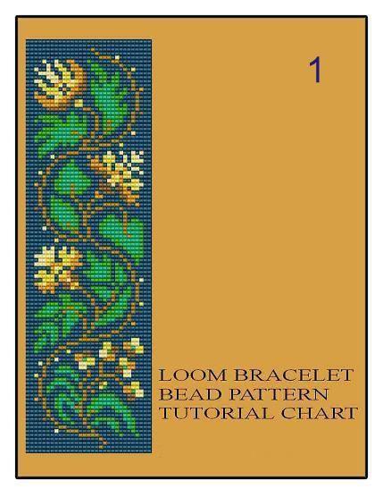 Bead Loom Vintage bloemen grens 1 2 3 Multi-Color armband