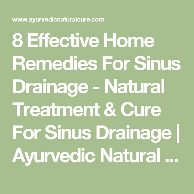 Best Natural Cure For Sinus Drainage