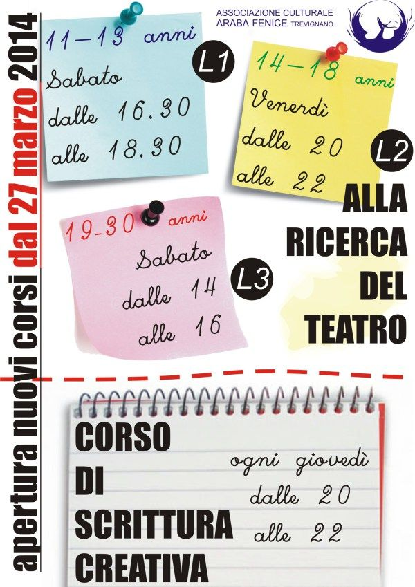 corsi teatro e scrittura 2014