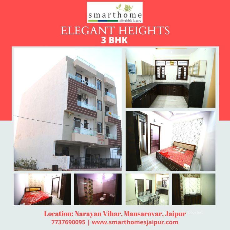 3 Bhk Residential Flat At Narayan Vihar Mansarovar Jaipur Luxury Apartments Smart Home Building Costs
