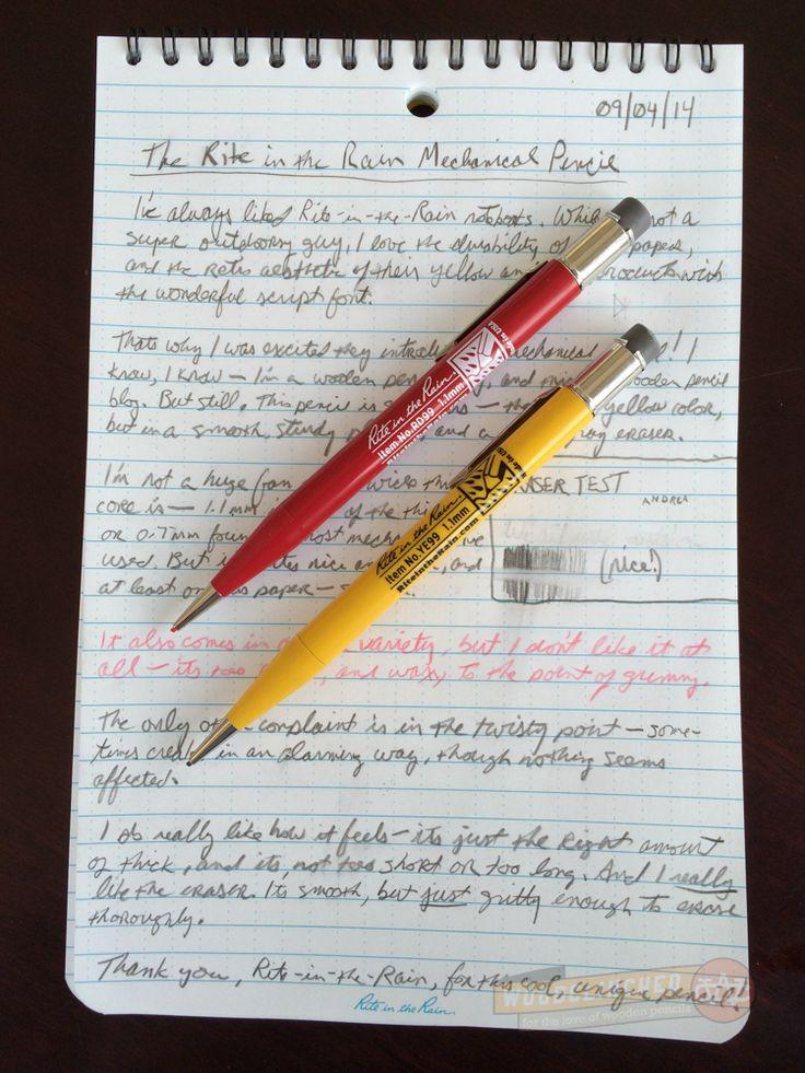 Rite In The Rain Mechanical Pencil Review Mechanical Pencils