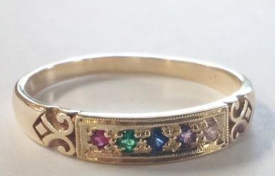 Birthstone Ring - TRUE CLASSIC - Sterling Silver or 9ct Gold
