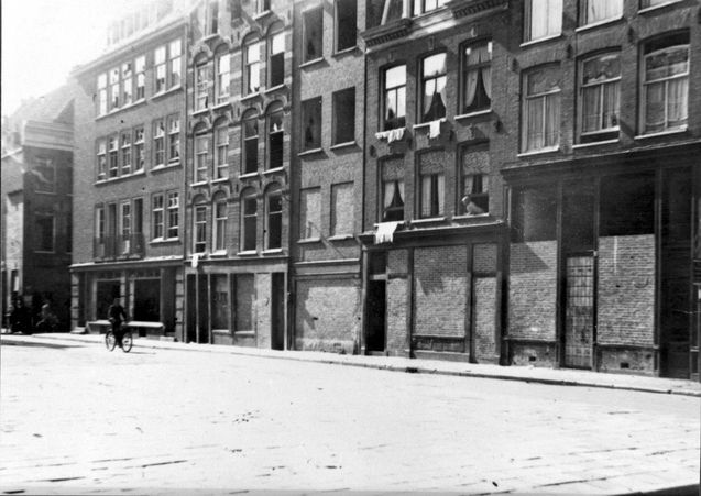 Amsterdam, Holland, Jewish houses that were robbed during the famine of winter 1944-1945.