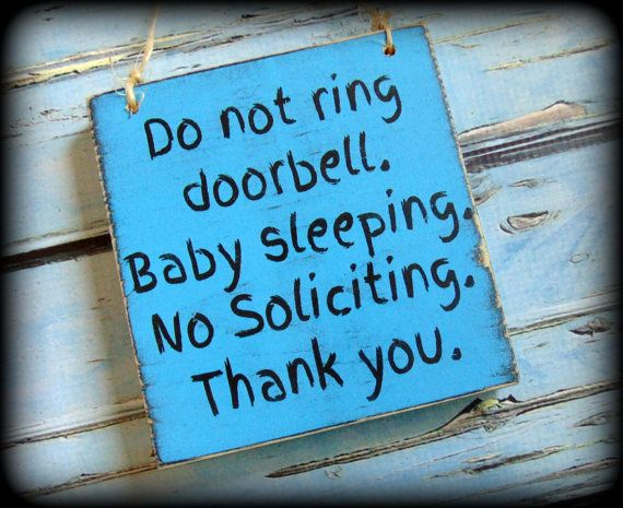 Funny No Soliciting Sign New Parents Gift by SawdustAndSunshowers