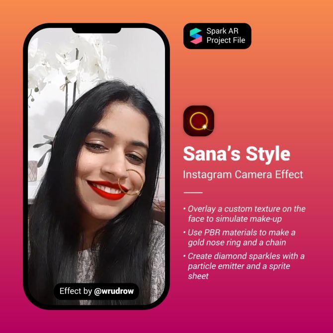 Sana S Style Spark Ar Instagram Filter Instagram Filter Instagram Contact Instagram