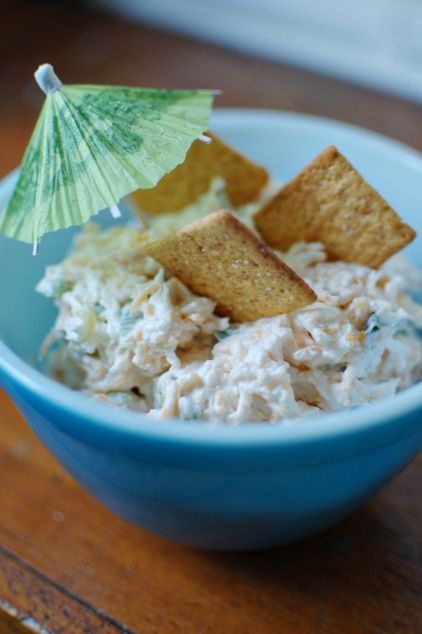 hawaian dip...doing it for a luau wedding shower, looks pretty amazing!