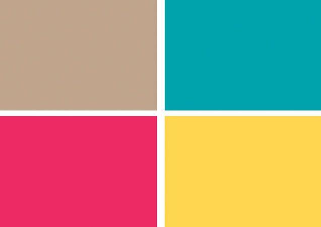 Móveis, tapetes e piso laminado garantem a base neutra. Um discreto tom sobre tom pontua as paredes: tecido bege na superfície do jantar e tinta acrílica nude nas demais. Os acessórios em nuances vibrantes – a exemplo de turquesa, rosa e amarelo – trazem pitadas de calor