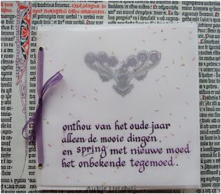 Aukje's Kalligrafie Blog: Nieuwjaar
