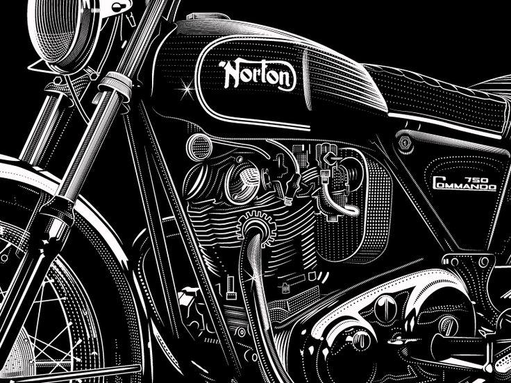 Norton Comando 6 by David Cran #Design Popular #Dribbble #shots
