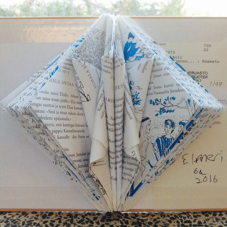 Paper folding Paper sculpture Old books Recycling