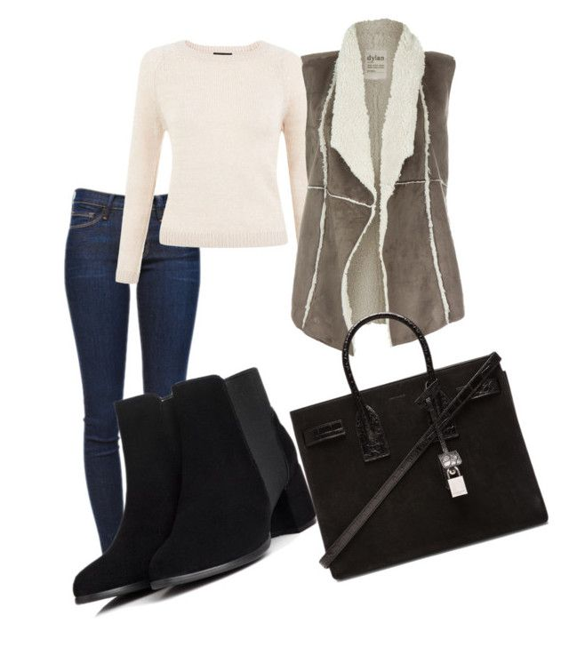 """""""Untitled #149"""" by amidinideborah ❤ liked on Polyvore featuring Frame Denim, Dylan and Yves Saint Laurent"""