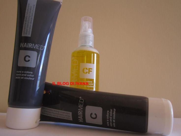 Hairmed: CURA E COLORE............ Si tratta di una linea di colorazione diretta ( senza ammoniaca, senza ossigeno, senza SLES, siliconi) ristrutturante e riflessante che in pochi minuti rigenera il colore naturale o cosmetico dei capelli rinforzandone la struttura grazie all'azione riparatrice e lucidante della cheratina.  Cura e colore comprende:  -7 nuances di colore  - un neutro  - un fluido fissatore e attivatore  - un Bagno specifico per valorizzare i capelli bianchi o spegnere le…