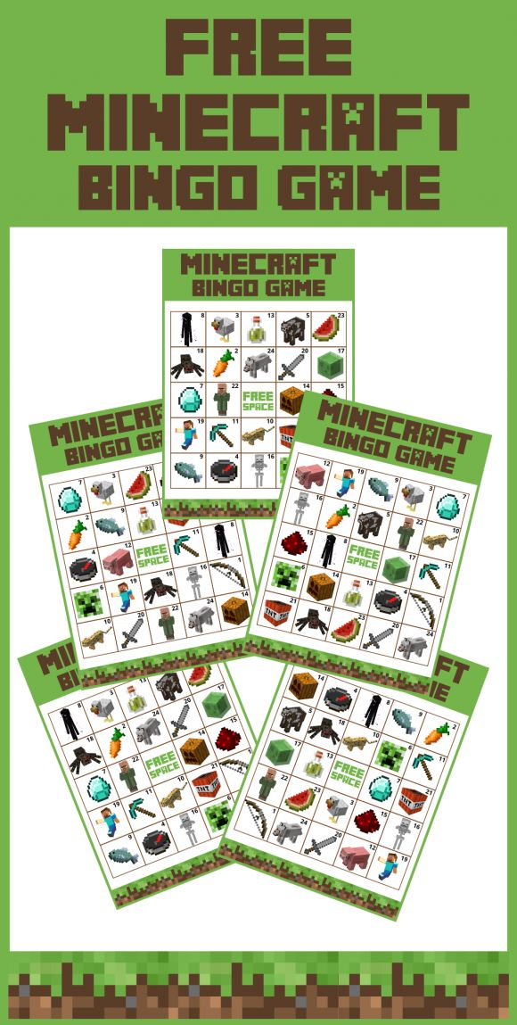 We did it! We created a set of free printable Minecraft bingo cards and we're giving them away! Perfect for your Minecraft birthday parties! See more party ideas at CatchMyParty.com.