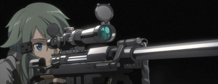 "Sword Art Online II - Gun Gale Online Version Character Name : Shinon Weapon : Sniper ""Otakutshirt.web.id"""