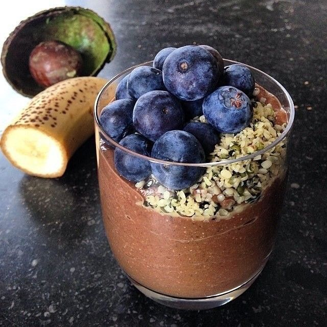 Afternoon Snack Time! #hemp #chocolate #smoothie with #hempseeds #superfoods #bananas #blueberries #avocado #vegan #smoothietime #smoothielove #mindfuleats #fitfam #hempfood #instahemp #hippie #hippies #hippielife #hippiestyle - great snack idea by @mindful_her follow her for more great posts!