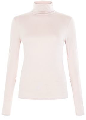 Womens blush shell pink turtle neck long sleeve top from New Look - £8.99 at ClothingByColour.com