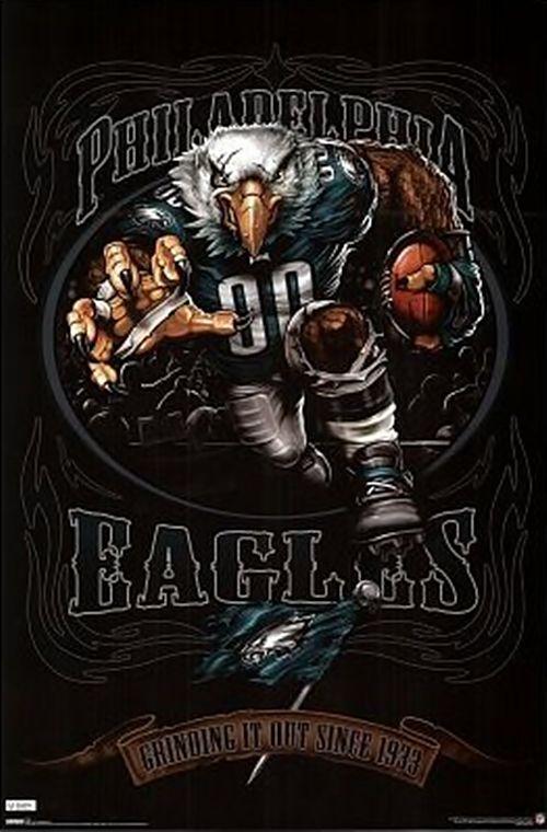 philadelphia eagles mascot poster