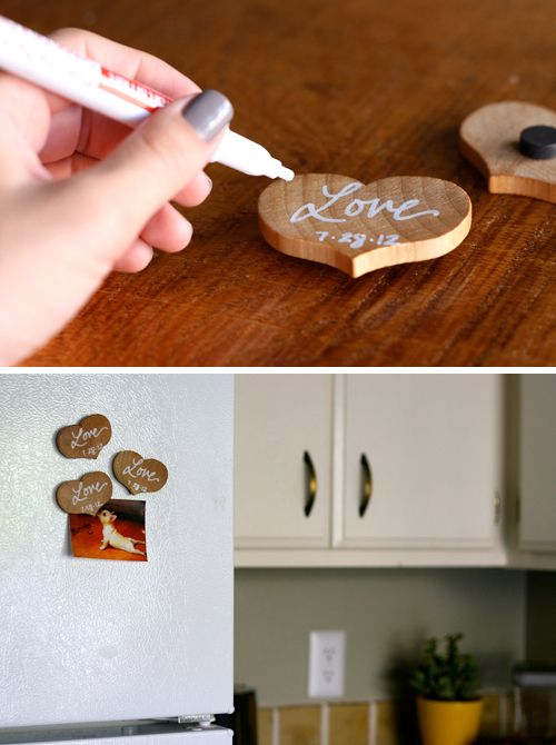 Simple DIY Project For A Fun Fall Inspired Wedding Favor Or Home Decor This Would Be Super Cheap Ac Moore Has Wood Shapes Each