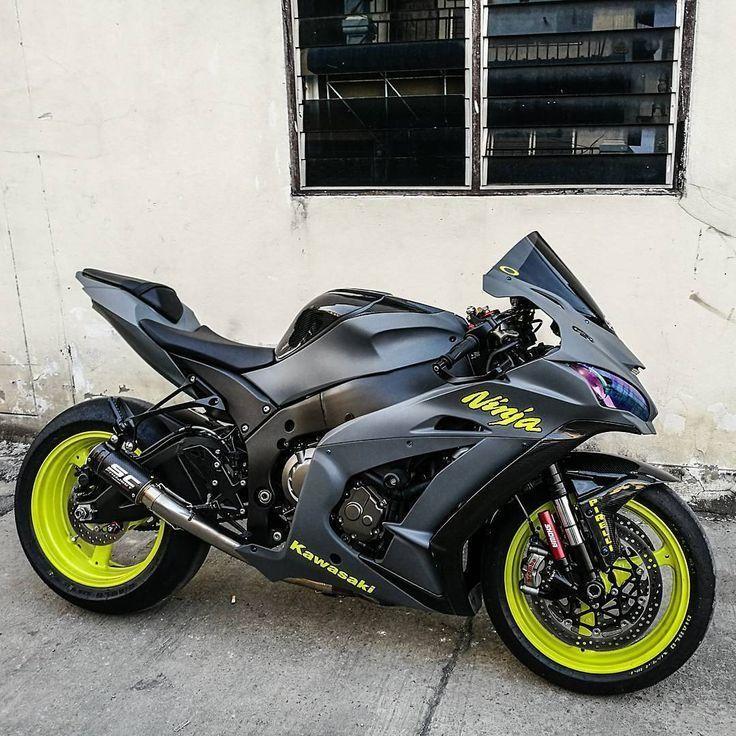 – Motorräder und mehr: Kawasaki Ninja ZX-10R – Coole Autos und Motorräder – #bikes   – Jeena