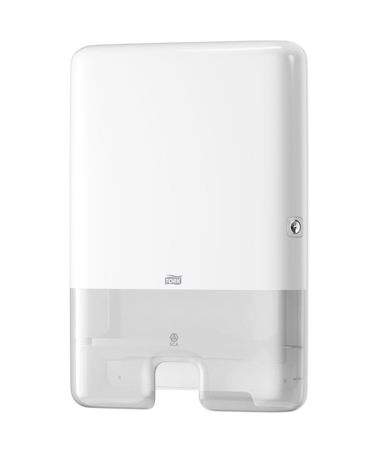 Tork Xpress™ Multifold Hand Towel Dispenser: The Tork Xpress™ dispenser for H2 Multifold hand towels is suitable for environments that demand both comfort and hygiene - such as hospitality, offices and healthcare facilities. (System: H2 - Interfold towel system; Material: Plastic; Height: 444 mm, Width: 302 mm, Depth: 102 mm; Color: White) Get more information about this product at: http://bimobject.com/en/sca-eu/product/552000/sca-tork-eu