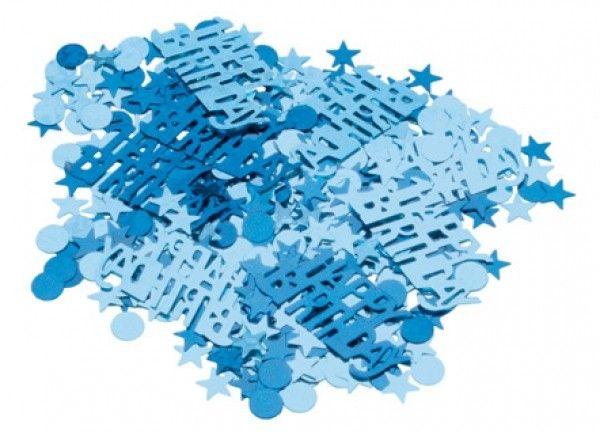 Blue & Silver Sparkle Party Confetti - Clintons