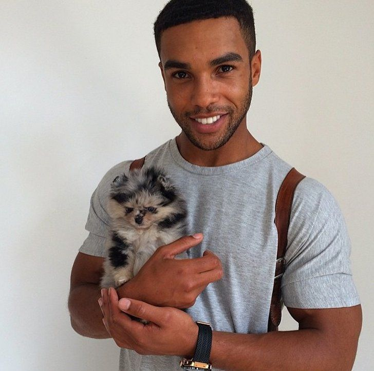 Pin for Later: These Hot British Guys Look Even Cuter With Their Furry Friends Lucien Laviscount