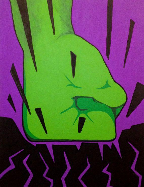Acrylic Smash Painting