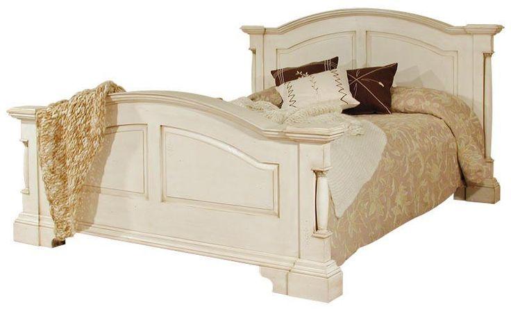 Canterbury Range - Cream Wooden Double Bed