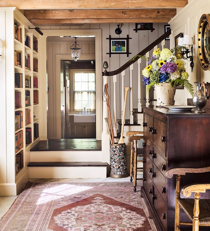 Rustic Style Cottage Entry