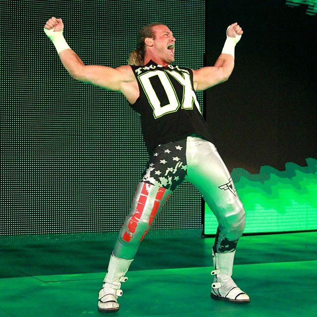 Dolph Ziggler impersonating DX. WWE is really misusing this highly-talented wrestler and have been for some time. (9/2017)