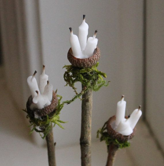 Fairy Accessories Candle Stand Handcrafted by OliveNatureFolklore
