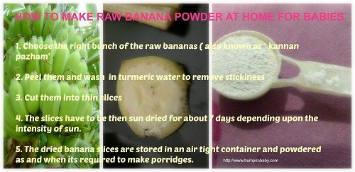 How to prepare raw banana powder at home ( step by step guide), raw banana powder for babies